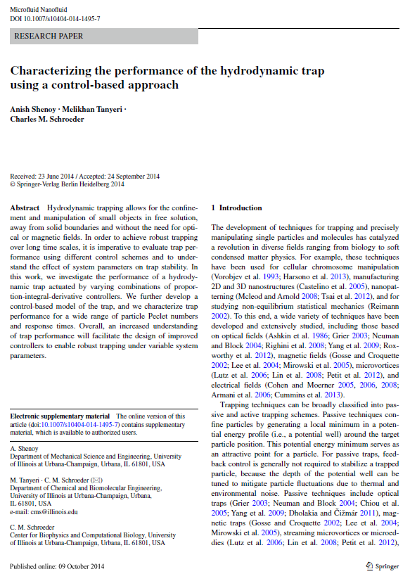 Characterizing performance using control-based approach